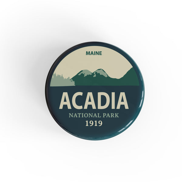 Acadia National Park Button Pin