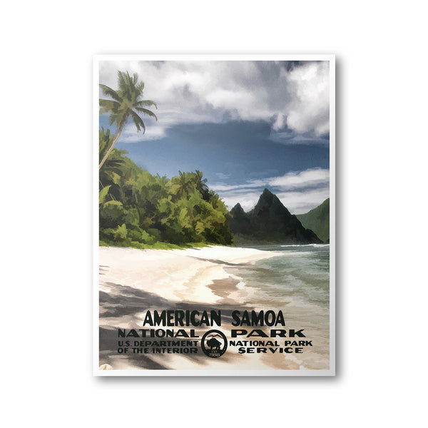 American Samoa National Park Poster - Albion Mercantile Co.