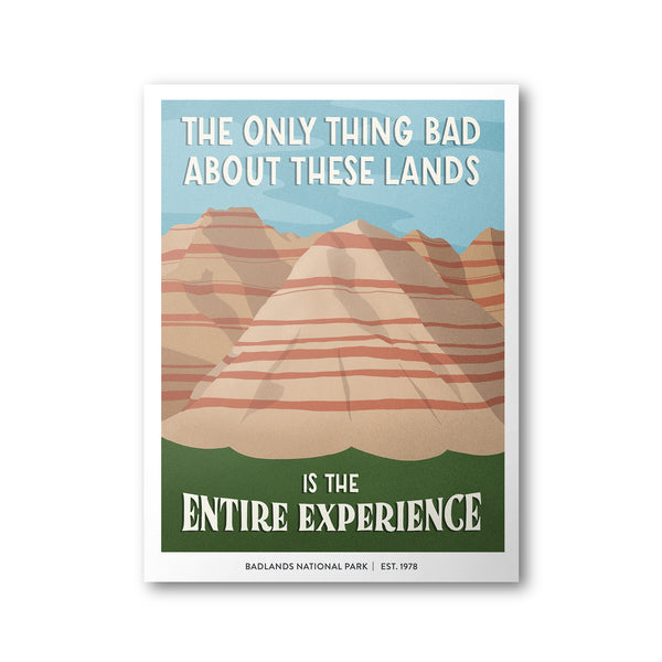 Badlands National Park Poster | Subpar Parks Poster - Albion Mercantile Co.