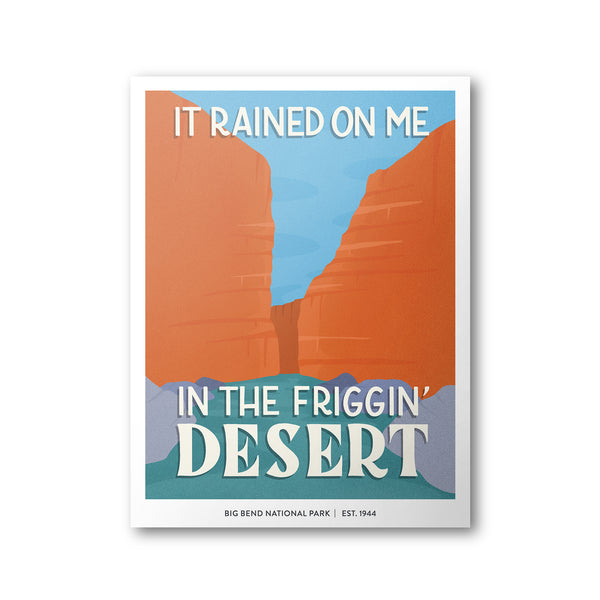 Big Bend National Park Poster | Subpar Parks Poster - Albion Mercantile Co.
