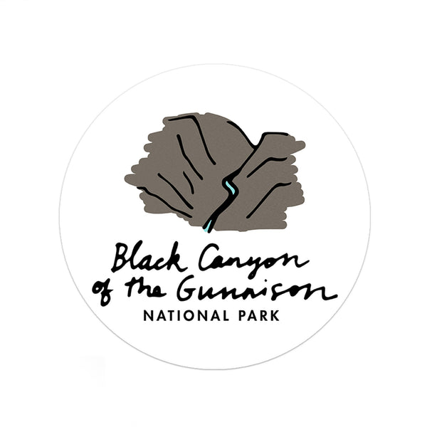 Black Canyon Of The Gunnison National Park Sticker - Albion Mercantile Co.