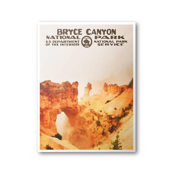 Bryce Canyon National Park Poster (Window) - Albion Mercantile Co.