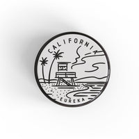 California Button Pin