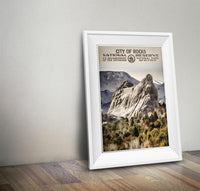 City Of Rocks National Reserve Poster - Albion Mercantile Co.
