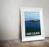 Crater Lake National Park Poster | Subpar Parks Poster - Albion Mercantile Co.