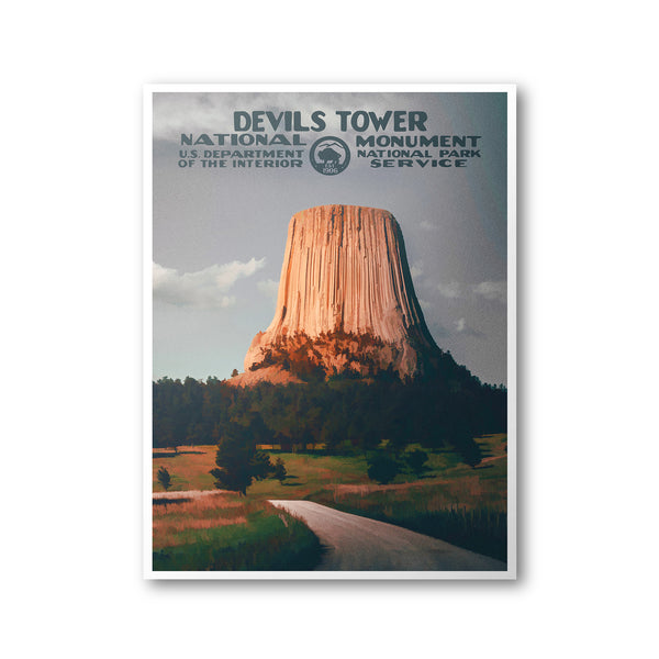 Devils Tower National Monument Poster - Albion Mercantile Co.