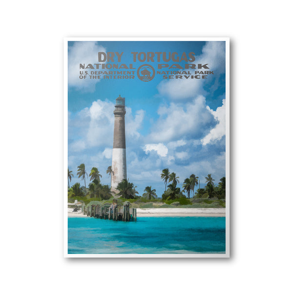 Dry Tortugas National Park Poster (Lighthouse)