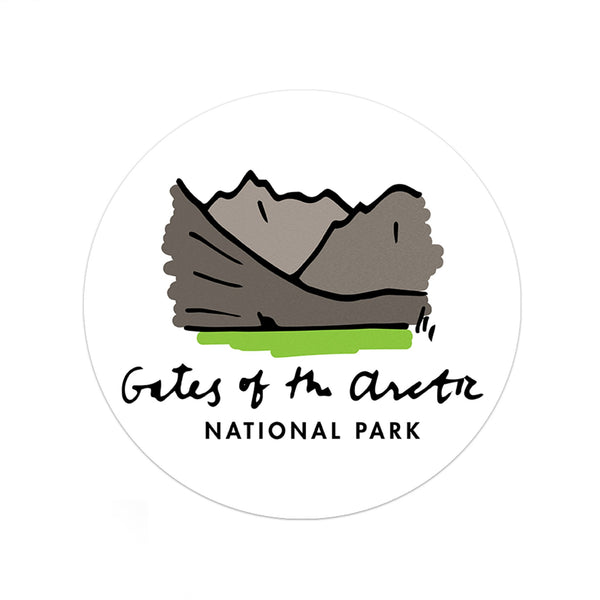 Gates Of The Arctic National Park Sticker - Albion Mercantile Co.