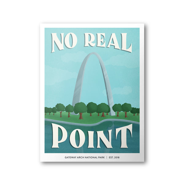 Gateway Arch National Park Poster | Subpar Parks Poster - Albion Mercantile Co.