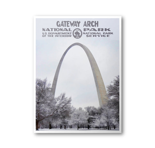 Gateway Arch National Park Poster - Albion Mercantile Co.
