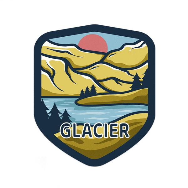 Glacier National Park Sticker | National Park Decal