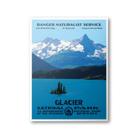 Glacier National Park Poster (St. Mary Lake) - Albion Mercantile Co.