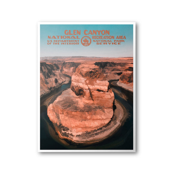 Glen Canyon National Recreation Area Poster - Albion Mercantile Co.
