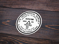 Glacier National Park Sticker | Going To The Sun USGS Benchmark Sticker - Albion Mercantile Co.