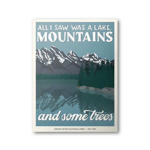 Grand Teton National Park Poster | Subpar Parks Poster - Albion Mercantile Co.