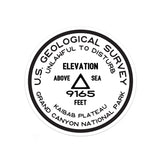Grand Canyon National Park Sticker | Kaibab Plateau USGS Benchmark Sticker - Albion Mercantile Co.