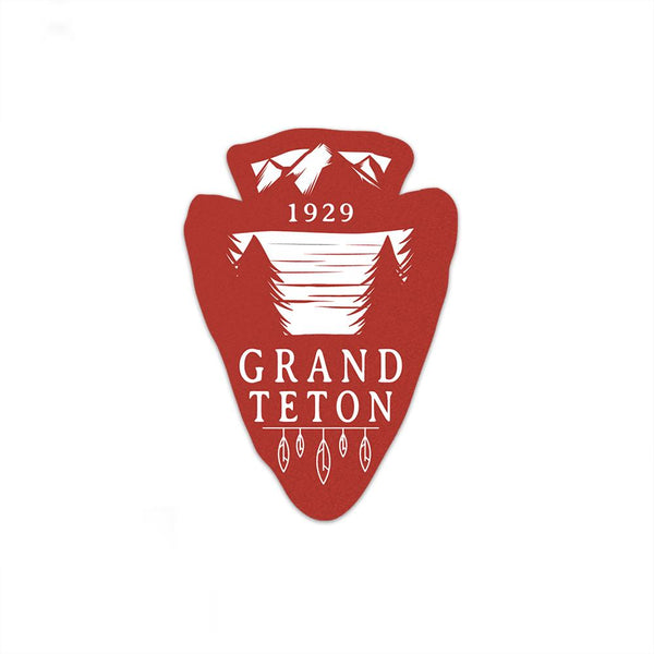 Grand Teton National Park Sticker | National Park Decal | Multiple Sizes Available - Albion Mercantile Co.