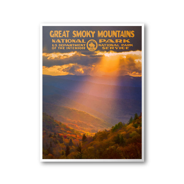 Great Smoky Mountains National Park Poster - Albion Mercantile Co.