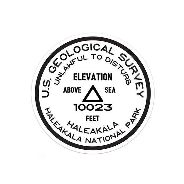 Haleakala National Park Sticker | Haleakala USGS Benchmark Sticker - Albion Mercantile Co.