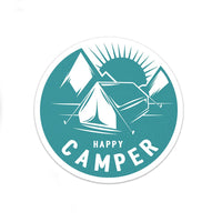 Happy Camper Sticker | Camping Sticker | Laptop Sticker | Car Decal | Bumper Sticker | Multiple Sizes Available - Albion Mercantile Co.