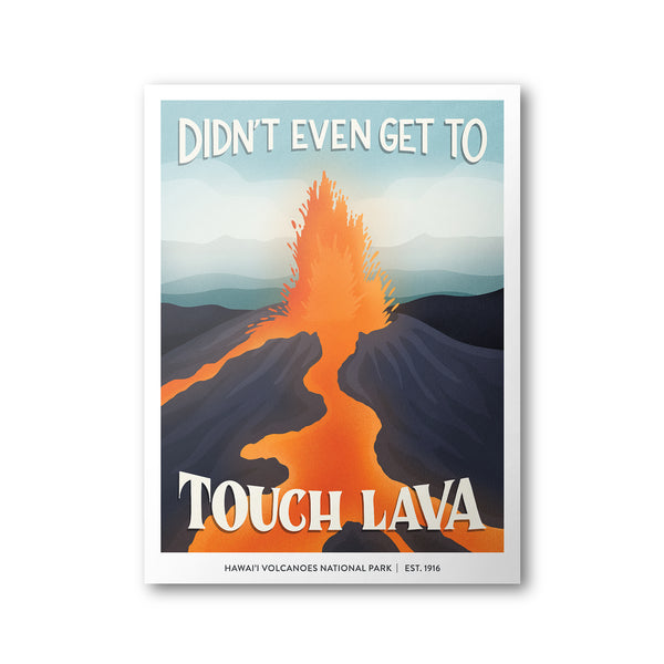 Hawaii Volcanoes National Park Poster | Subpar Parks Poster - Albion Mercantile Co.