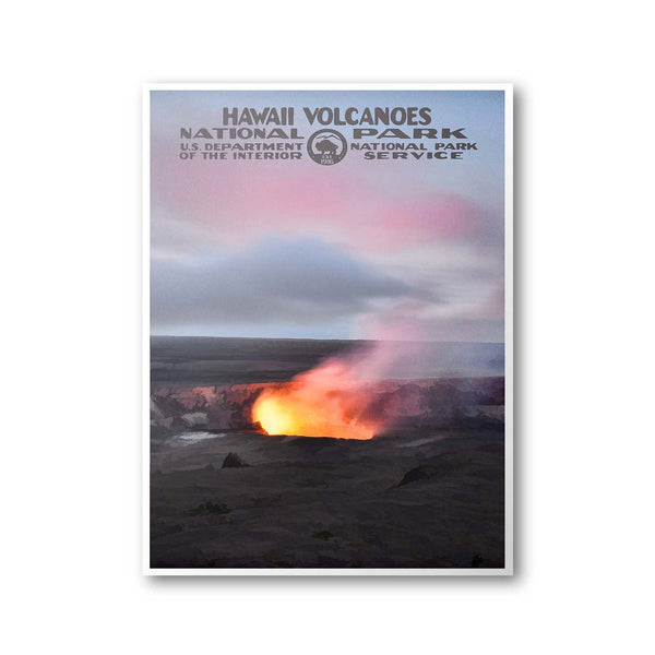 Hawaii Volcanoes National Park Poster - Albion Mercantile Co.