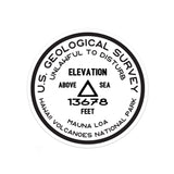 Hawaii Volcanoes National Park Sticker | Mauna Loa USGS Benchmark Sticker - Albion Mercantile Co.