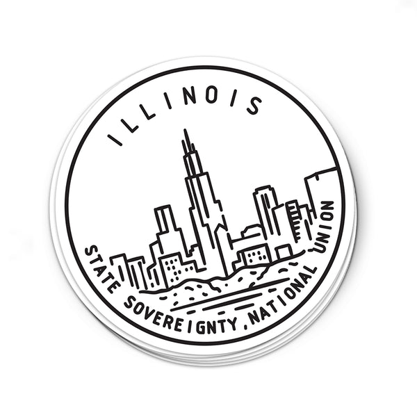 Illinois Sticker - Albion Mercantile Co.