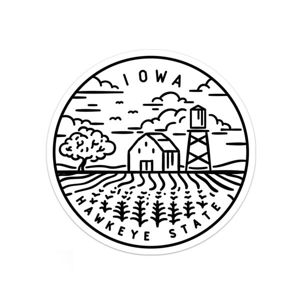 Iowa Sticker - Albion Mercantile Co.