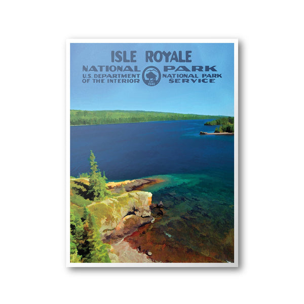 Isle Royale National Park Poster - Albion Mercantile Co.