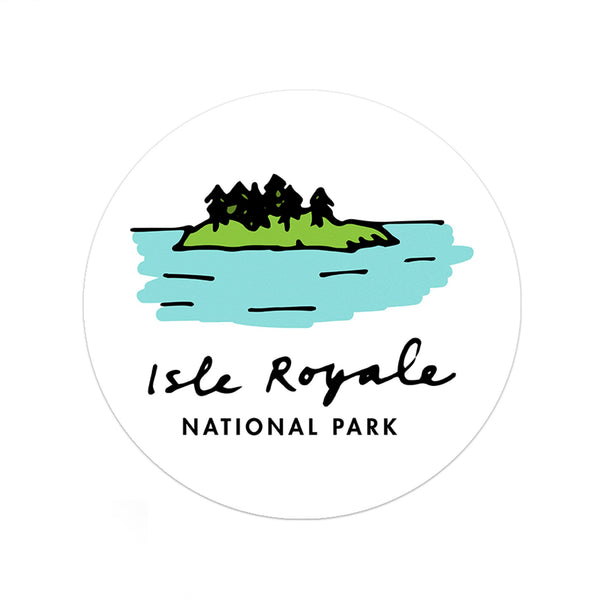 Isle Royale National Park Sticker - Albion Mercantile Co.