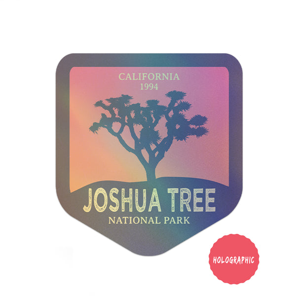 Joshua Tree National Park Sticker | Holographic National Park Decal - Albion Mercantile Co.