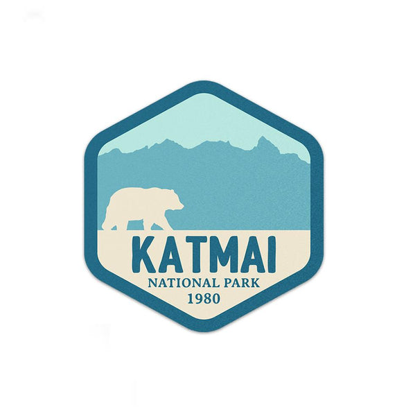 Katmai National Park Sticker | National Park Decal - Albion Mercantile Co.