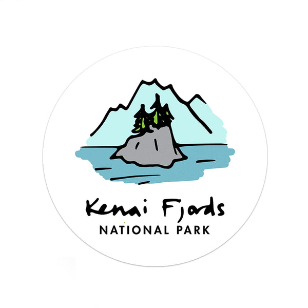 Kenai Fjords National Park Sticker - Albion Mercantile Co.