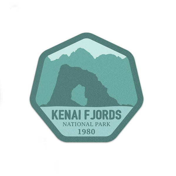 Kenai Fjords National Park Sticker | National Park Decal - Albion Mercantile Co.