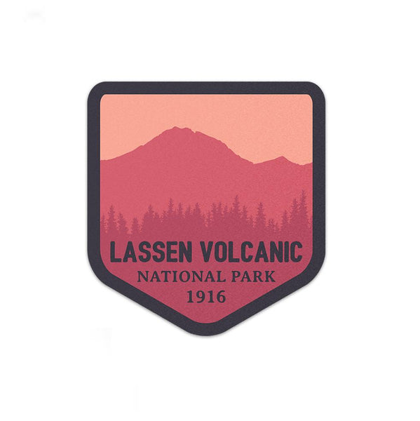 Lassen Volcanic National Park Sticker | National Park Decal - Albion Mercantile Co.