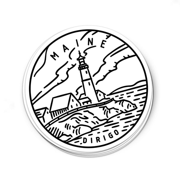 Maine Sticker - Albion Mercantile Co.