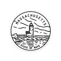 Massachusetts Sticker - Albion Mercantile Co.