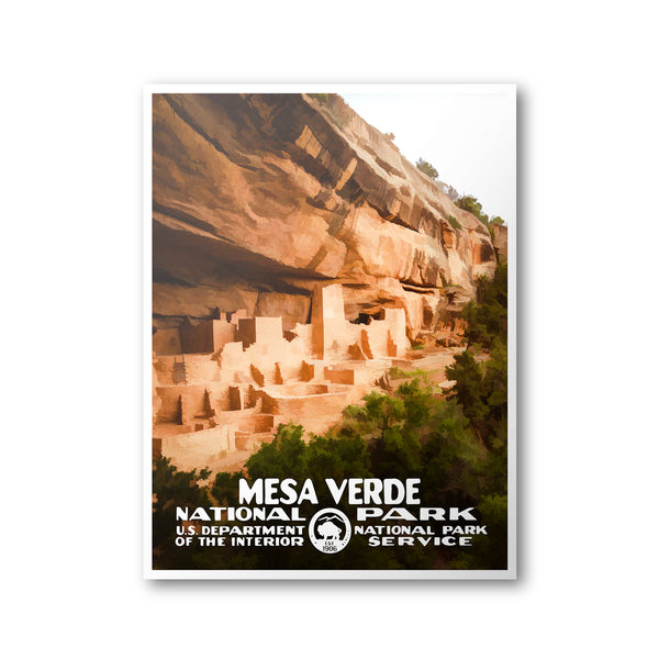 Mesa Verde National Park Poster - Albion Mercantile Co.