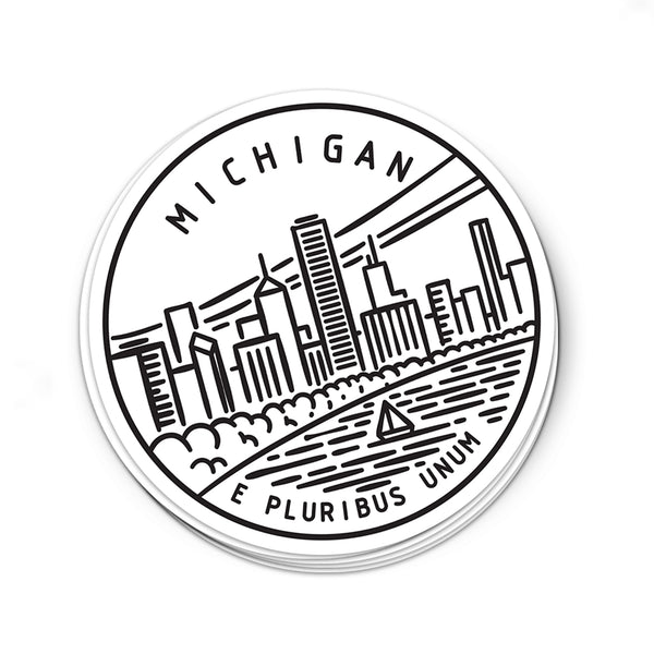 Michigan Sticker - Albion Mercantile Co.