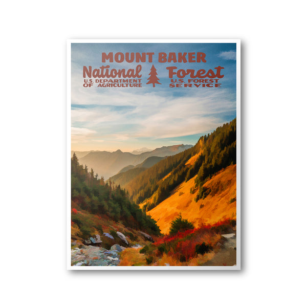 Mount Baker National Forest Poster