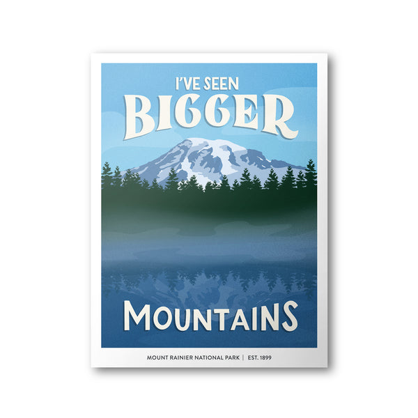 Mount Rainier National Park Poster | Subpar Parks Poster - Albion Mercantile Co.