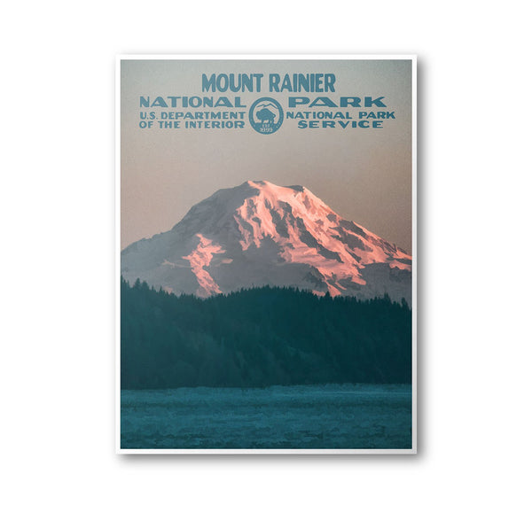 Mount Rainier National Park Poster - Albion Mercantile Co.