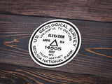 Sequoia National Park Sticker | Mount Whitney USGS Benchmark Sticker - Albion Mercantile Co.