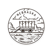 Nebraska Sticker - Albion Mercantile Co.