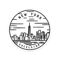 New York Sticker - Albion Mercantile Co.