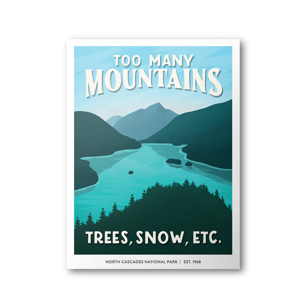 North Cascades National Park Poster | Subpar Parks Poster - Albion Mercantile Co.