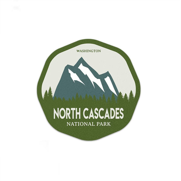 North Cascades National Park Sticker | National Park Decal - Albion Mercantile Co.
