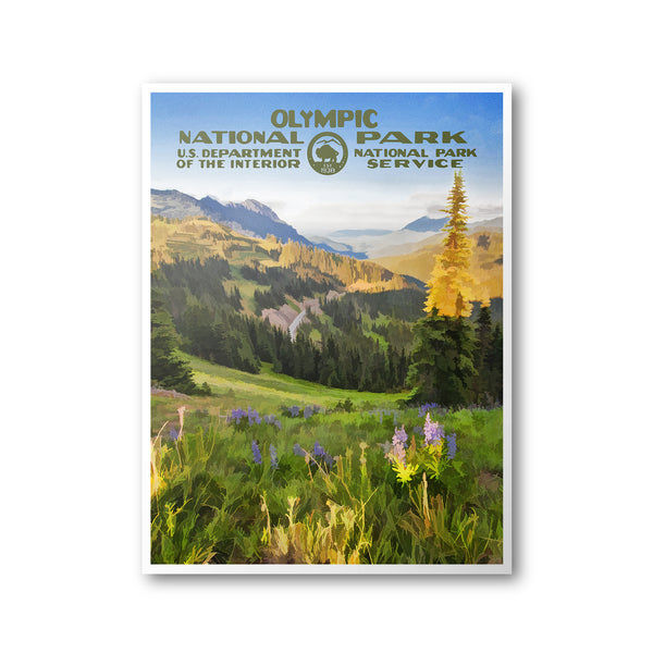 Olympic National Park Poster (Hurricane Ridge)