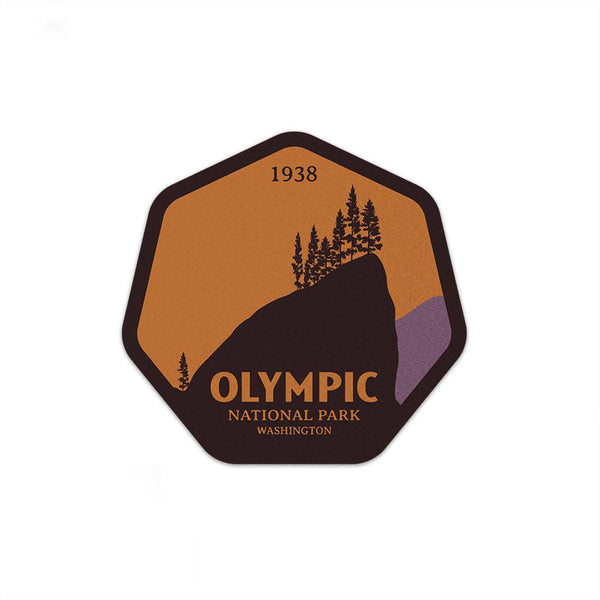 Olympic National Park Sticker | National Park Decal - Albion Mercantile Co.